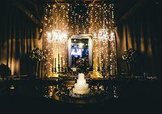 Decoração de casamento com pisca-pisca | Decoração: Cleitson Pereira | Foto: Alfredo Toscano