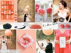 The Perfect Palette: {Pretty + Pink}: A Palette of Coral, Pink, Peach, Ivory & Black | inspiration boards | Scoop.it
