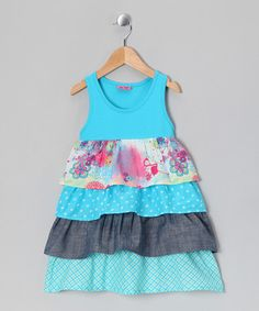 Take a look at this Blue Atoll Kajsa Bam Dress - Toddler & Girls by Me Too on #zulily today!