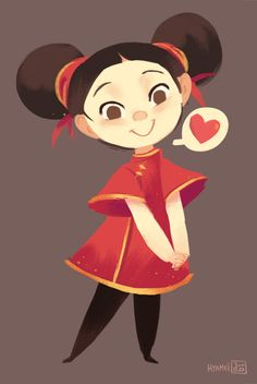 """Abigail L. Dela Cruz """"Hyamei"""" - my version of """"Pucca"""" for puccadraws!"""