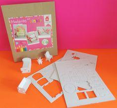 Mueblecitos para armar y decorar incluye: cocina, comedor, sala, recámaras y cuna. Cardboard Toys, Kitchen Dining, Crib