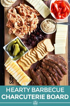 A Hearty BBQ Charcuterie Board is the unique idea your next gathering demands. Bust it out on a weekend for grazing or use it as the gathering centerpiece. Meat Appetizers, Easy Appetizer Recipes, Appetizers For Party, Grilled Brisket, Grilled Meat, Tailgating Recipes, Barbecue Recipes, Grilling Recipes, Charcuterie And Cheese Board