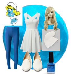 """smurfette"" by greendayisawesome ❤ liked on Polyvore featuring art"