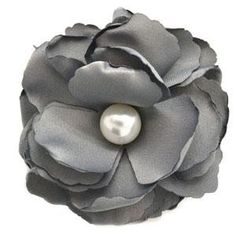 Paparazzi Silver Flower Hair Clip with Pearl. $5 Paparazzi $5 Jewelry & Accessories. #$5 jewelry #Paparazzi Jewelry www.fashion5jewelry.com