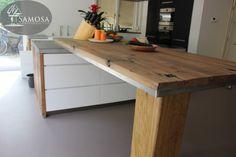 oud hout   keukenbladen | Samosa – Ontwerp op Maat » Keuken op maat: oud eiken