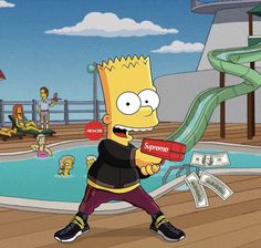 Check out this awesome collection of Dope Bart Simpson wallpapers, with 8 Dope Bart Simpson wallpaper pictures for your desktop, phone or tablet. Simpson Wallpaper Iphone, Cartoon Wallpaper, Iphone Wallpaper, Bart Simpson, Supreme Wallpaper Hd, Bape Wallpapers, Trill Art, Supreme Art, Dope Cartoons