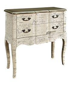 Another great find on #zulily! Cream Antique Cabinet #zulilyfinds