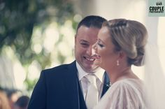 The happy couple during their ceremony. Weddings at Rathsallagh House Hotel by Couple Photography.
