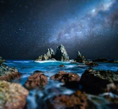 An poster sized print, approx (other products available) - Milky Way, 154814338 - Image supplied by Australian Views - Poster printed in the USA Nocturne, Night Photography, Amazing Photography, Exposure Photography, Photography Styles, Ocean Photography, Landscape Photography, Cool Pictures, Beautiful Pictures