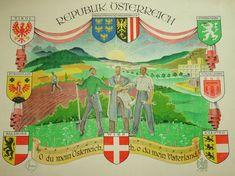 Plakat Republik Österreich Foma Verlag Steyr Grafik Wappen Design Aufbau XXL Steyr, Taj Mahal, Ebay, Antiques, Travel, Design, Baby Crafts, Stationery, Crests