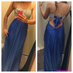 A line Prom Gown,Open Back Prom Dresses,Royal Blue Evening Gowns,Beaded Party Dresses,Sweetheart Evening Gowns,Backless Formal Dress For Teen MT20184270