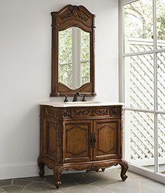 """37 ½"""" Private Retreat Sink Chest Bathroom Vanity 06173-110-301 #Ambella #HomeRemodel #BathroomRemodel #BlondyBathHome #BathroomVanity"""