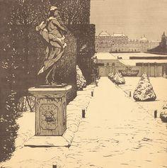 Carl Moll   Belvederegarten im Winter   1903   Albertina, Wien #KunstFürAlle