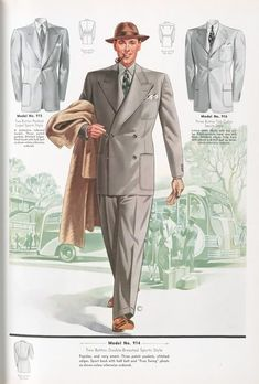 1930s mens fashion plate. Do not underestimate the power of the pipe the sophisticated man about town like Cary Grant had to have a pipe to at least the mid 1940s.