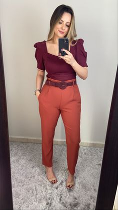 Simple Work Outfits, Pretty Outfits, Chic Outfits, Fashion Outfits, Color Blocking Outfits, Classy Casual, Summer Outfits Women, Colourful Outfits, Clothes For Women