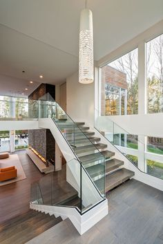 Private Residence - Bentleyville,Ohio - Dimit Architects Best Picture For Architecture House roof Fo Dream Home Design, Modern House Design, Modern House Plans, Staircase Design, Modern Staircase, House Stairs Design, Contemporary Stairs, Contemporary Bathrooms, Contemporary Decor