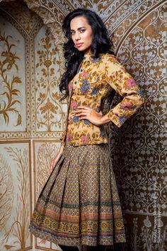 Merchant Rose jacket & skirt. Anokhi Dec 2014