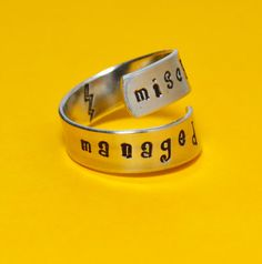 Mischief Managed Wrap Ring - Harry Potter.  I will buy it!!