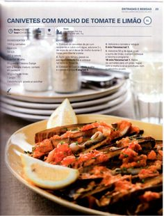 150 receitas - As melhores de 2012 Shrimp, Meat, Food, Sweet Recipes, Illustrated Recipe, Recipe Journal, Fish, Gastronomia, Ideas