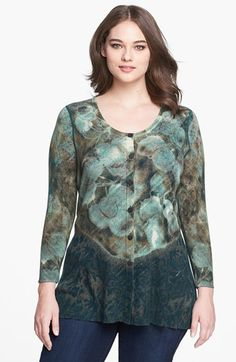 NIC+ZOE 'This and That' Reversible Cardigan (Plus Size) available at #Nordstrom