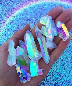 Holographic shared by Kamilė Gindulytė on We Heart It Minerals And Gemstones, Crystals Minerals, Stones And Crystals, Crystal Aesthetic, Rainbow Aesthetic, Witch Aesthetic, Cute Wallpapers, Aesthetic Wallpapers, Girly