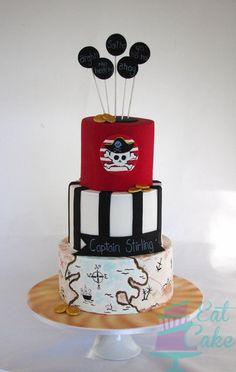 Ahoy it's a Pirate Cake! - by KiwiEatCake @ CakesDecor.com - cake decorating website
