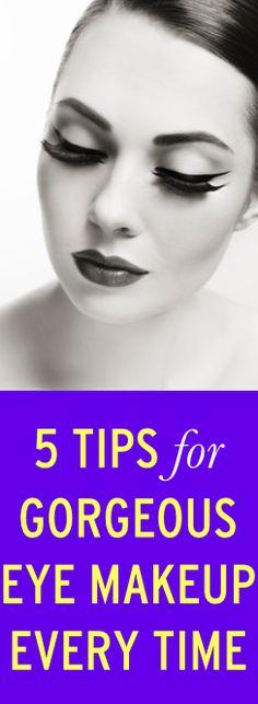 5 tips for getting perfect eye makeup every time via@bustledotcom