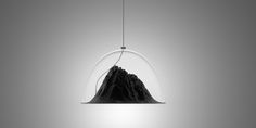 Mountain View Suspension Lamp (not yet available) | Design: Dima Loginoff - http://dimaloginoff.com