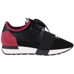Sneakers Shoes Women ($454) ❤ liked on Polyvore featuring shoes, sneakers, fuchsia, womenshoessneakers, fuschia shoes, balenciaga sneakers, real leather shoes, balenciaga and leather sneakers