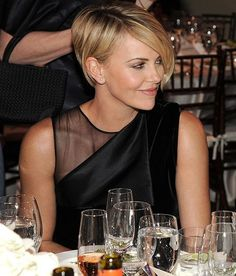 Charlize Theron very latest 2014 hairstyle