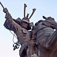 Statue of Shimazu Yoshihiro which stands in front of Ijuin Station in Kagoshima prefecture #Samurai