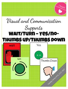 This FREE Visual and Communication Supports includes: ❤ 8 WAIT CARDS ❤ 8 TURN CARDS ❤ YES/NO CARDS ❤ THUMBS UP/THUMBS DOWN CARDS ❤❤❤ ENJOY!!! ❤❤❤ ❤❤❤❤ This item is also part of the money saving Mega Bundle AAC ULTIMATE Visual, Social, Communication, and Behavior