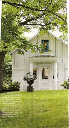 white farmhouse - of my dreams - I would love to live in a farmhouse before I am too old to farm!