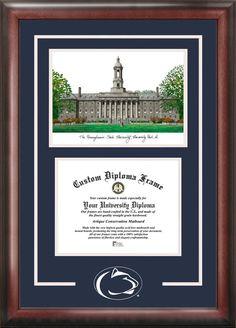 Penn State University Spirit Graduate Frame with Campus Image