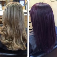 Another beautiful color! From blonde to violet!