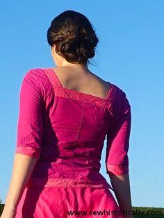 Indian Pink Cotton Long Choli Blouse | Sew historically