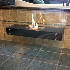 La Strada Freestanding Floor Fireplace | Overstock™ Shopping - Great Deals on Nu-Flame Indoor Fireplaces