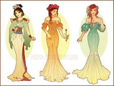 """Disney Princesses get a Make Over"" by artist Hanna Alexander"