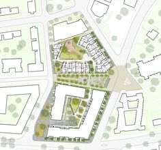 Alison Brooks Architects _ Durham & Gloucester Court _ South Kilburn Estate Regeneration _ Landscape Plan 2