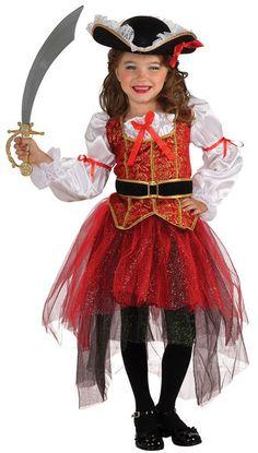 Lasten Naamiaisasu; Merten Prinsessa. Tämä tyttö laittaa varmasti merirosvojoukot ojennukseen! Sisältää: - Paidan vyöllä - Hameen - Hatun