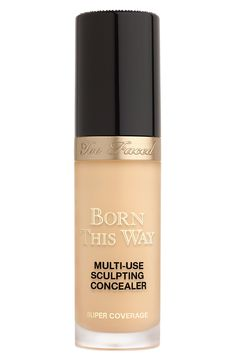 Too Faced Born This Way Super Coverage Multi-Use Sculpting Concealer, Size oz - Natural Beige Beauty Makeup, Eye Makeup, Drugstore Beauty, Skincare Dupes, Born This Way Concealer, Concealer Brush, Cream Concealer, Too Faced Concealer, Full Coverage Concealer