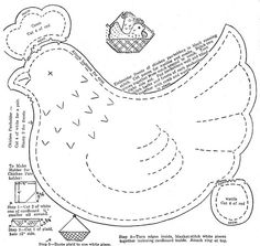 chicken pot holder pattern