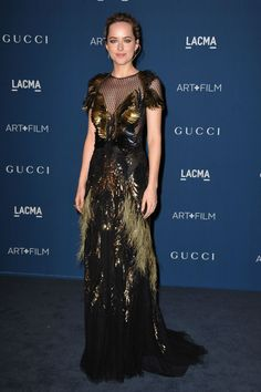 Dakota Johnson de Gucci - LACMA Art + Film 2013 with Gucci
