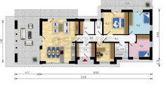 Rodinný dům Elite - půdorys přízemí Floor Plans, Diagram, Projects, Floor Plan Drawing, House Floor Plans