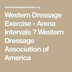 Western Dressage Exercise - Arena Intervals ⋆ Western Dressage Association of America