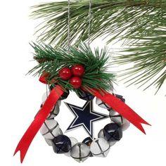 Dallas Cowboys Bell Wreath Ornament