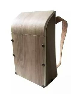 Wooden backpack