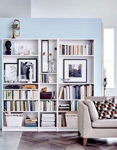 La bibliothèque Billy sur un pan de mur