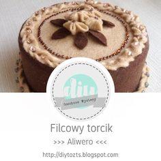 DIY - zrób to sam : GOŚCINNE WYSTĘPY / Aliwero / Filcowy torcik Cheesecake, Diy, Desserts, Blog, Tailgate Desserts, Bricolage, Cheese Cakes, Dessert, Postres