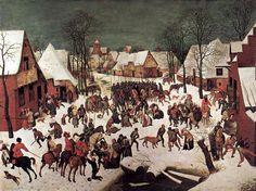 Pieter Bruegel the Elder — The Massacre of the Innocents, 1565, Pieter...
